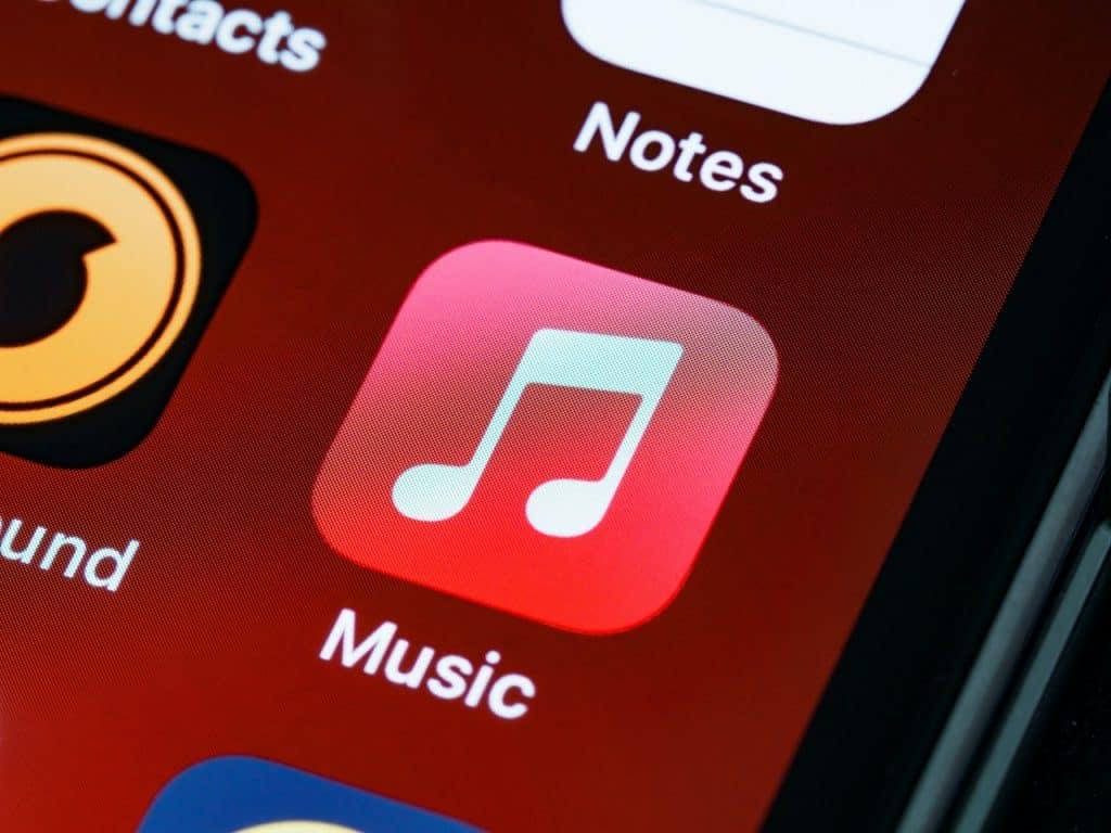 Application music d'un iPhone d'Apple