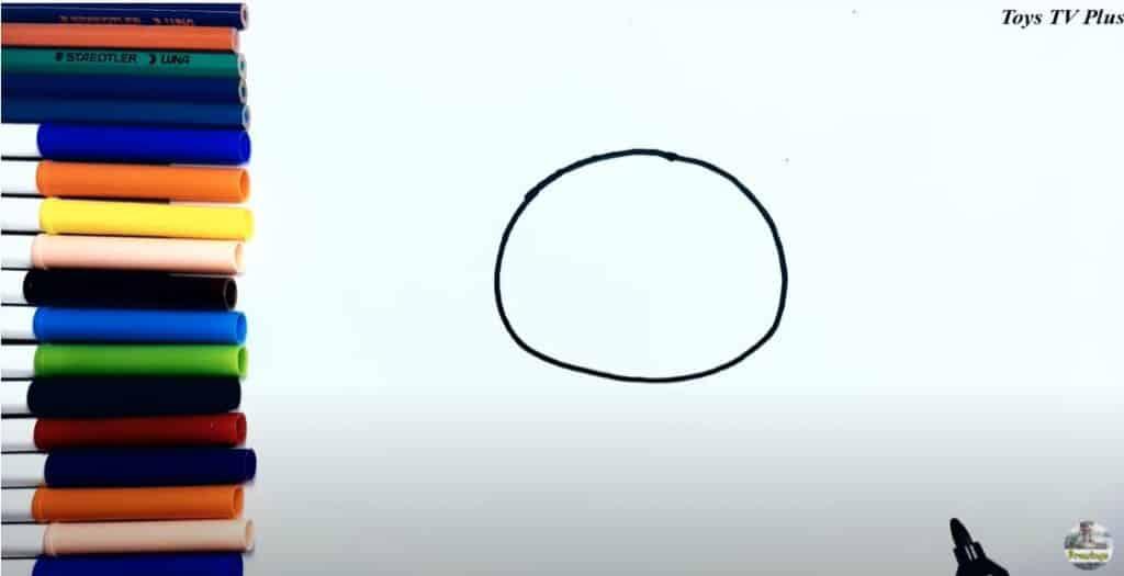 Etape 1 dessin chat, dessiner la tête