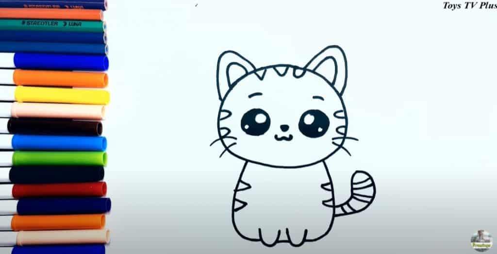 Etape 6 détails finals du dessin d'un chat