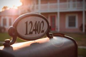 Numéro de maison, boîte aux lettres